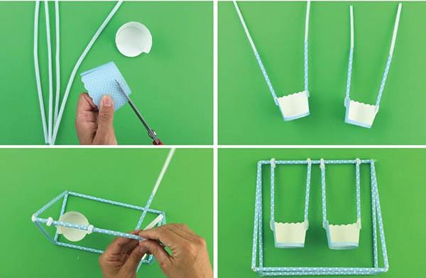 hướng dẫn làm đồ chơi bằng ống hút giấy